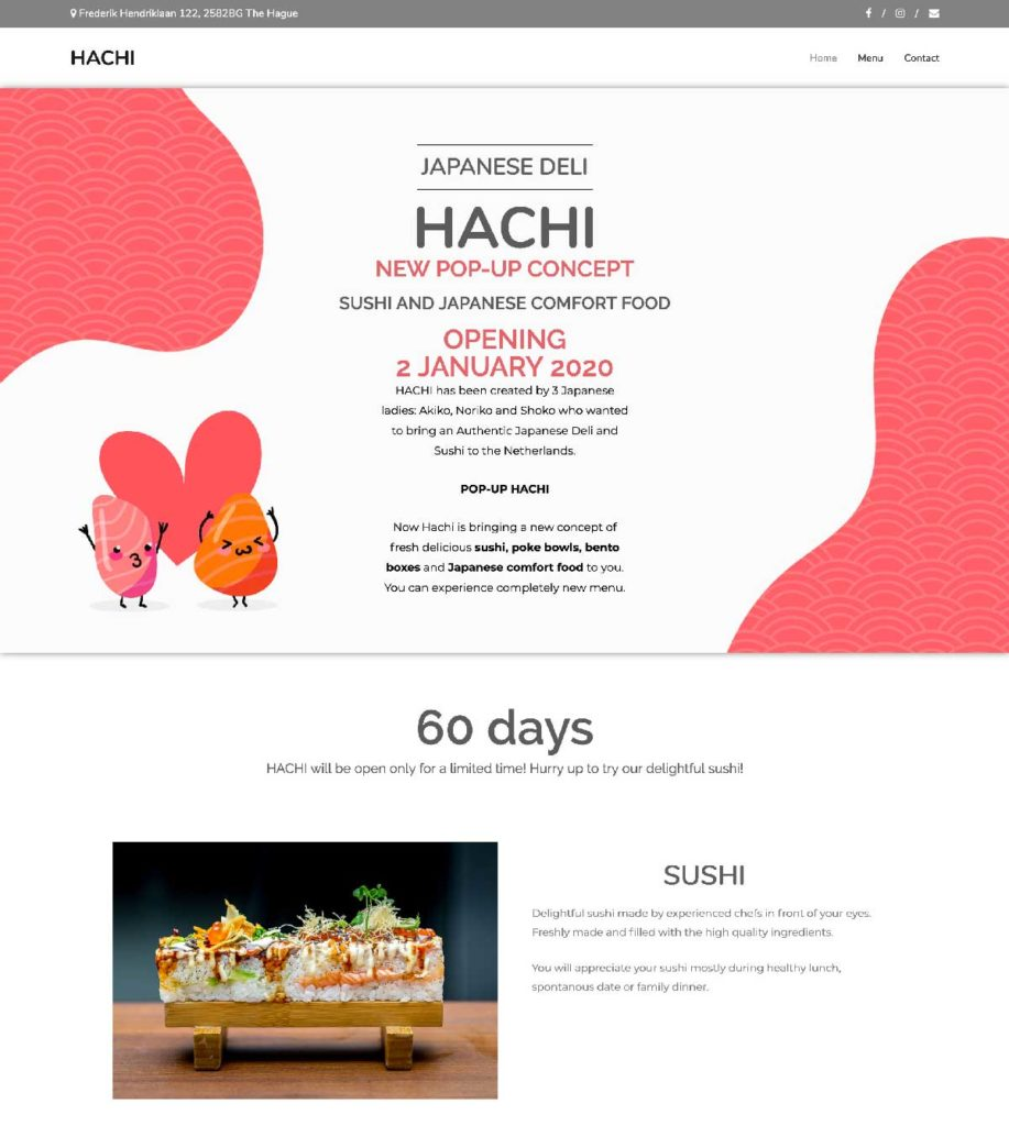 Hachi Japanese Deli Den Haag Website