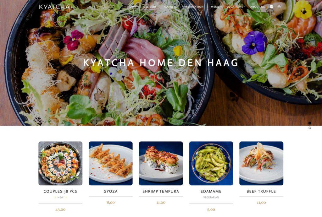Kyatcha WooCommerce Webshop for Sushi Restaurant